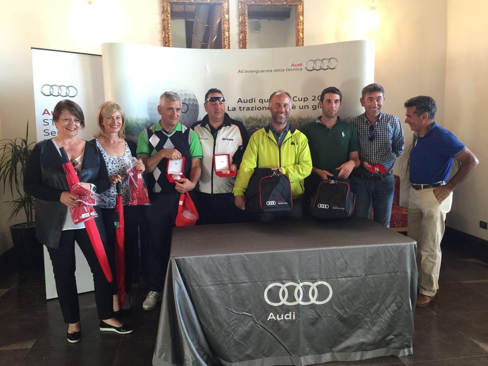 Una coppia di Palermo vince la tappa dell'Audi quattro Cup al Donnafugata Golf Resort di Ragusa