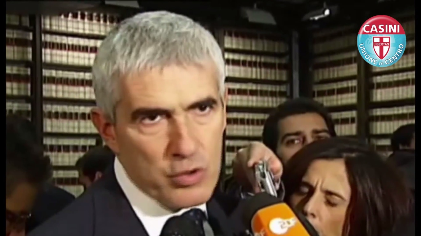 """Casini: """"Spero che la scelta di Berlusconi a Roma sia frutto di ponderazione"""""""