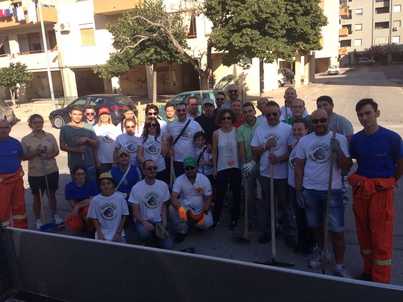 """Un successo l'iniziativa """"Ripuliamo Fanello"""", promossa dal movimento politico Sviluppo Ibleo a Vittoria"""
