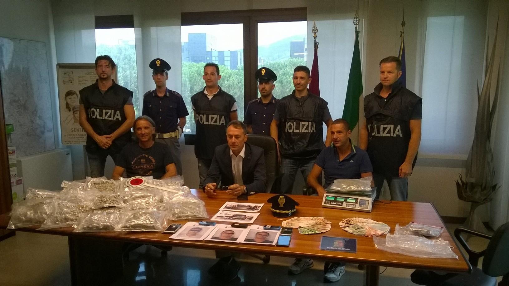 Traffico internazionale di marijuana dalla Spagna: Tre arresti e sequestro di 11 chili di droga