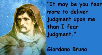 """Giordano Bruno: """"Un filosofo contro"""". Di Antonio Cammarana"""