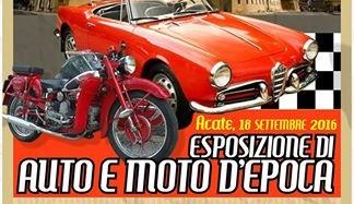 Acate. Esposizione di auto e moto d'epoca, domenica 18 settembre, sul Corso Indipendenza.