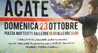 "Acate. Manifestazione ecologica: Puliamo Acate"". Domenica 23 ottobre in Piazza Matteotti."
