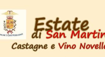 """San Possidonio (Mo). Venerdì 11 novembre : """"Estate di San Martino- Castagne e Vino novello""""."""