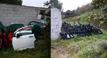 Scoperto deposito di auto rubate a Paternò