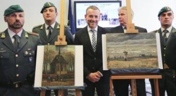 In esposizione i dipinti di Van Gogh ritrovati dalle fiamme gialle lo scorso mese di settembre