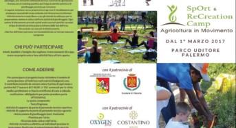 """Palermo, parco Uditore. Al via il progetto """"SpOrt & ReCreation Camp, agricoltura in movimento"""""""