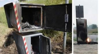 Inqualificabile atto vandalico: In fiamme autovelox sulla Vittoria Scoglitti.