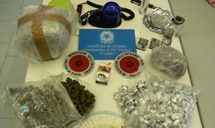 Catania, Librino. Sequestro di droga, controlli amministrativi e denunce per furto di energia elettrica