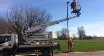 Concordia sulla Secchia. Iniziati i lavori di riqualificazione dell'illuminazione pubblica.