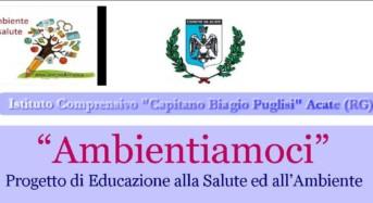 """Acate. Lunedì 10 aprile presentazione del progetto di educazione alla salute ed all'ambiente: """"Ambientiamoci""""."""