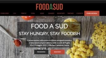"""Domani la seconda giornata di """"Food a Sud"""": La rassegna sulla comunicazione e sul giornalismo enogastronomico"""