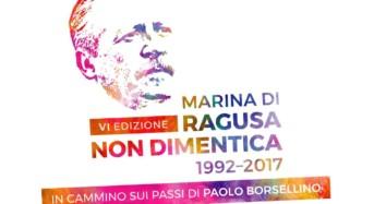 """Il 19 luglio la 6° edizione di """"Marina di Ragusa non dimentica – in cammino sui passi di Paolo Borsellino"""""""