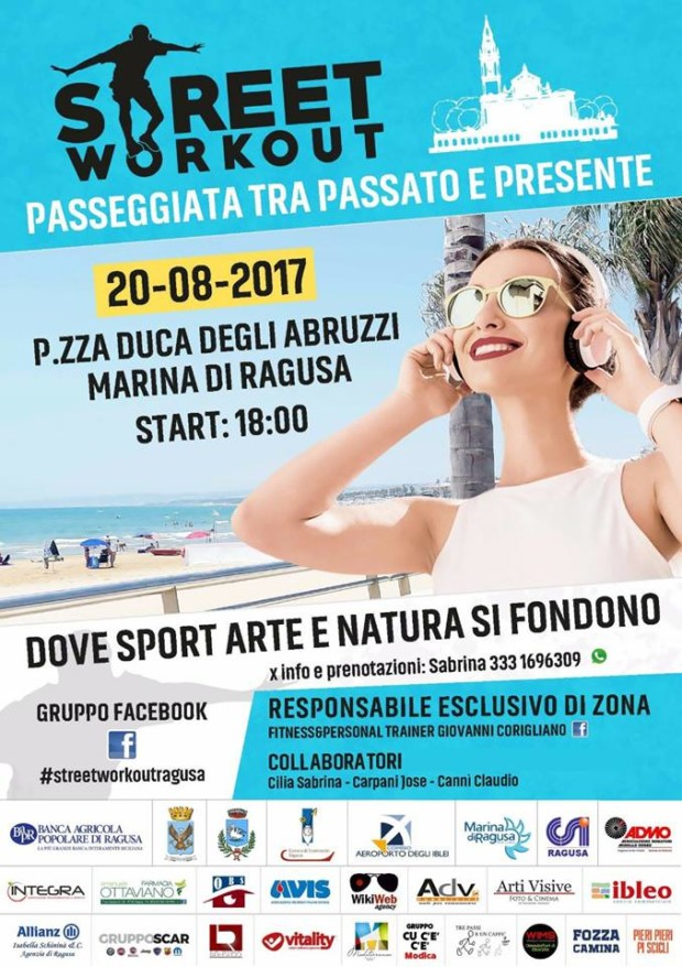 A Marina Di Ragusa La 2 Edizione Di Street Workout Promuove Admo