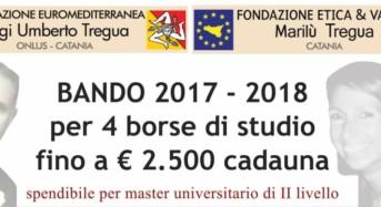 Quattro borse di studio per giovani studenti siciliani