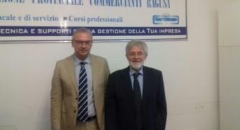 Il neopresidente della camera di commercio del sud est Piero Agen accolto dai vertici provinciali di Confcommercio Ragusa