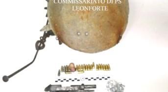 Tenta di occultare un'arma e delle munizioni detenute illegalmente: leonfortese arrestato