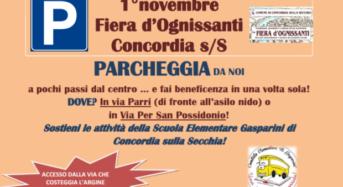 """Concordia sulla Secchia. """"Parcheggia da noi"""". Iniziativa del comitato Scuola Elementare Gasparini per raccogliere fondi."""