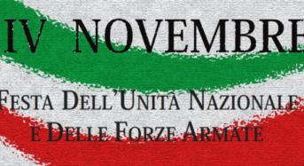 """Acate. """"4 Novembre Festa delle Forze Armate"""". Comunicato stampa dell'amministrazione comunale."""