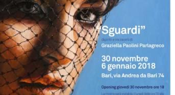 """Arriva a Bari """"Sguardi"""", mostra di Graziella Paolini Parlagreco"""