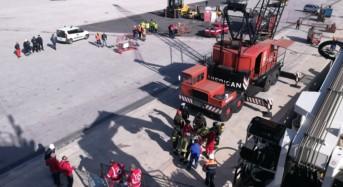 Porto di Pozzallo. Esercitazione antincendio, security portuale e primo soccorso