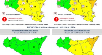Allerta meteo arancione in Sicilia orientale