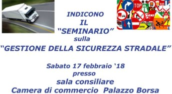 """Domani, Sabato 17 febbraio, a Catania il seminario sulla """"Gestione della Sicurezza Stradale"""""""
