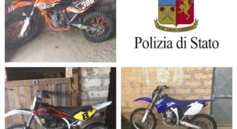 Trovate a Vittoria moto del valore di 30.000 euro rubate ad un concessionario di Niscemi (CL)