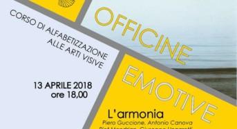 """Caltagirone, """"Officine emotive"""" corso di alfabetizzazione alle arti visive: evento 13 aprile """"L'Armonia"""""""