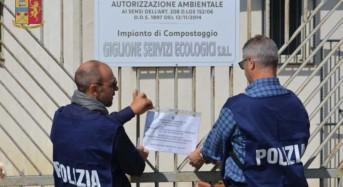 """Sequestro preventivo impianto compostaggio della ditta """"Giglione Servizi Ecologici"""""""