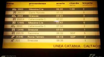 Messina-Catania-Siracusa: Treni regionali, una continua odissea