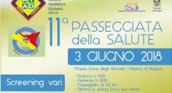 Undicesima passeggiata della salute con AIAD a Marina di Ragusa