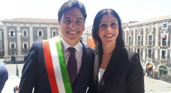 Catania. Insediamento Salvo Pogliese a Palazzo degli Elefanti, presente Valentina Spadaro