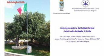Ragusa, Cerimonia di commemorazione dei soldati italiani caduti nella Battaglia di Sicilia