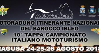 Ragusa, dal 24 al 26 agosto il Motoraduno Itinerante Nazionale del Barocco Ibleo
