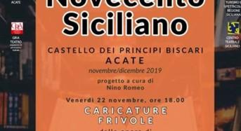"""Acate. Biblioteca Civica:""""Novecento Siciliano"""" questa sera alle 18 al Castello."""
