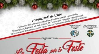 """Acate. La """"Festa per le Feste"""", domenica 22 dicembre a cura dei negozianti di Corso Indipendenza e dell'Azione Cattolica."""
